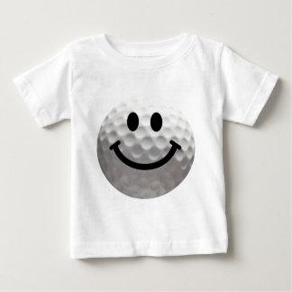 ゴルフ・ボールのスマイリー ベビーTシャツ