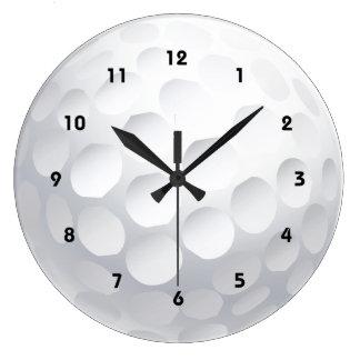 ゴルフ・ボールのデザインの柱時計 ラージ壁時計