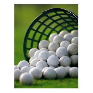 ゴルフ・ボールのバケツ ポストカード