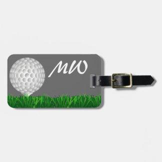 ゴルフ・ボールの名前入りなゴルファー ラゲッジタグ