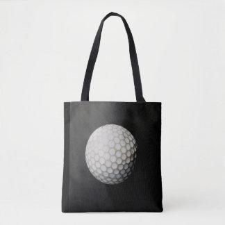 ゴルフ・ボールの戦闘状況表示板の背部チャコールグレーおよび黒 トートバッグ