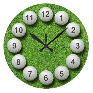 ゴルフ・ボールの時計 ラージ壁時計