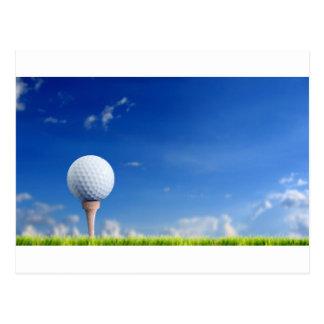 ゴルフ・ボールの空 ポストカード