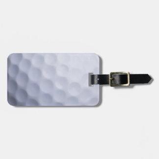 ゴルフ・ボールの背景によってカスタマイズテンプレート バッグタグ