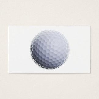ゴルフ・ボールの背景によってカスタマイズテンプレート 名刺
