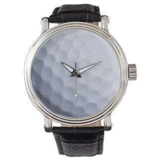 ゴルフ・ボールの背景-ゴルフをするスポーツのテンプレート 腕時計