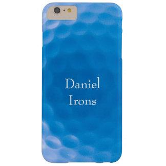 ゴルフ・ボールの質Dimples_Arctic Blue_personalized Barely There iPhone 6 Plus ケース