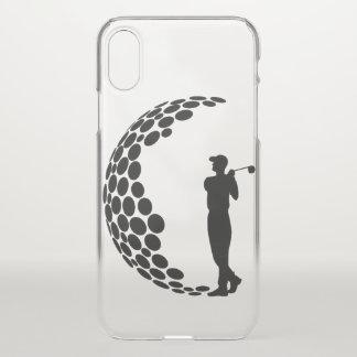 ゴルフ・ボールを持つゴルファー iPhone X ケース