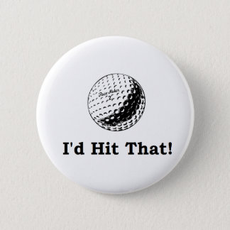 ゴルフ・ボール私はそれに当ります 5.7CM 丸型バッジ