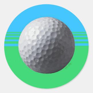 ゴルフ・ボール4Uの円形のステッカー ラウンドシール