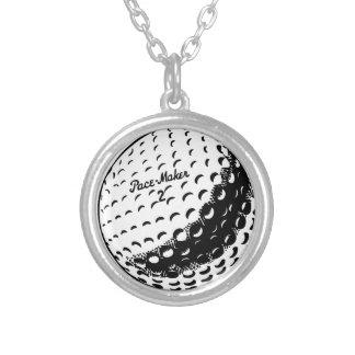 ゴルフ・ボール シルバープレートネックレス