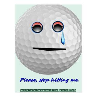 ゴルフ・ボール-私に当ることを止めて下さい ポストカード