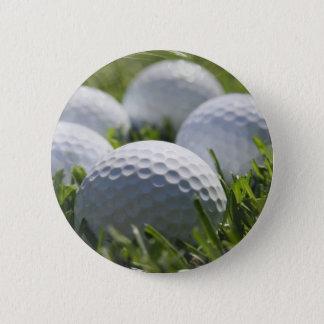 ゴルフ・ボールPin 5.7cm 丸型バッジ