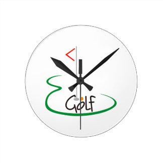 ゴルフ ラウンド壁時計