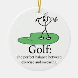 ゴルフ: 完全なバランス セラミックオーナメント