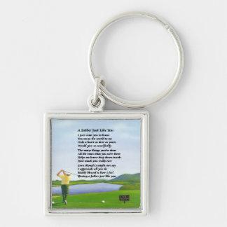 ゴルフ-父の詩 キーホルダー