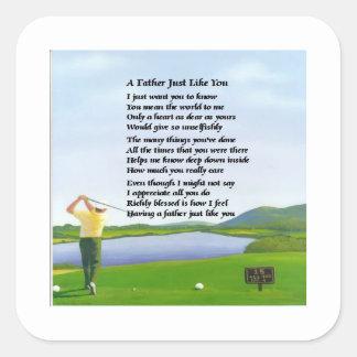 ゴルフ-父の詩 スクエアシール