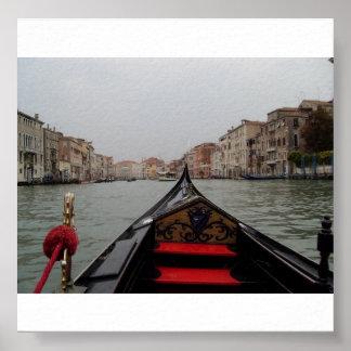 ゴンドラからの大運河の眺め ポスター