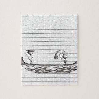 ゴンドラのボートの棒の姿 ジグソーパズル