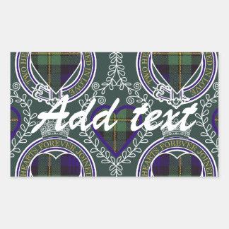 ゴードンのスコットランド人のタータンチェック 長方形シール