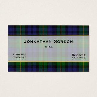ゴードンのスタイリッシュな格子縞のカスタムな名刺 名刺
