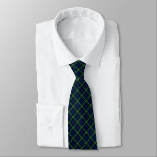 ゴードンの一族のタータンチェックの青、緑、および黄色の格子縞 ネクタイ