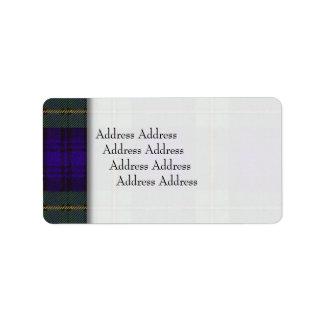ゴードンの一族の格子縞のスコットランド人のタータンチェック ラベル