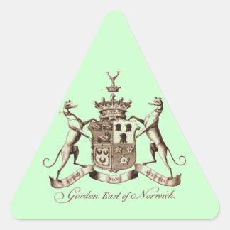 ゴードンの家紋 三角形シール