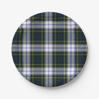 ゴードンの服のタータンチェック格子縞の紙皿 ペーパープレート