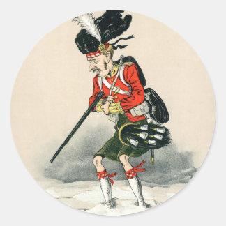 ゴードンの高地居住者の兵士 ラウンドシール