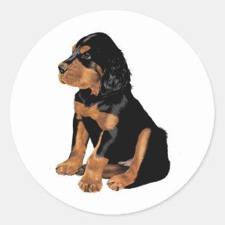 ゴードンセッターの子犬 ラウンドシール