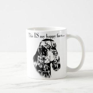 ゴードンセッターの幸せな顔 コーヒーマグカップ