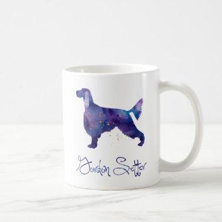 ゴードンセッターの水彩画 コーヒーマグカップ