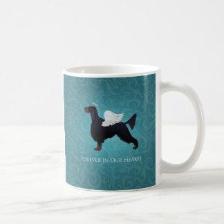 ゴードンセッターペット記念犬の天使 コーヒーマグカップ