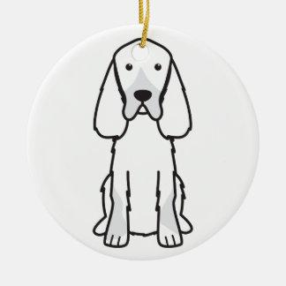ゴードンセッター犬の漫画 セラミックオーナメント