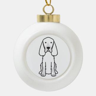ゴードンセッター犬の漫画 セラミックボールオーナメント