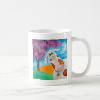 ゴードンブルースを絵を描くかわいい牛民芸 コーヒーマグカップ
