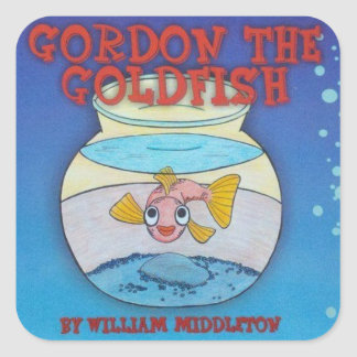 ゴードン金魚のステッカー スクエアシール