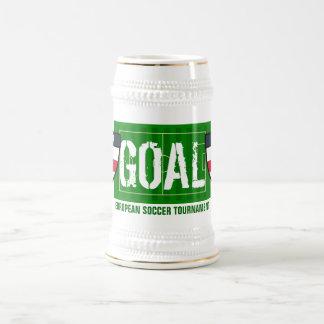 ゴールのイギリスのヨーロッパのサッカーのトーナメントのビールのジョッキ ビールジョッキ
