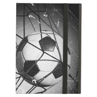 ゴールのクールなヴィンテージのグランジなフットボール iPad AIRケース