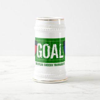 ゴールのフランスのヨーロッパのサッカーのトーナメント ビールジョッキ