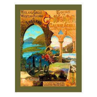 ゴールウェイ旅行ポスター ポストカード