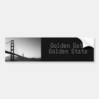 ゴールデンゲートカリフォルニア バンパーステッカー