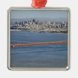 ゴールデンゲートブリッジおよびサンフランシスコ。 3 メタルオーナメント