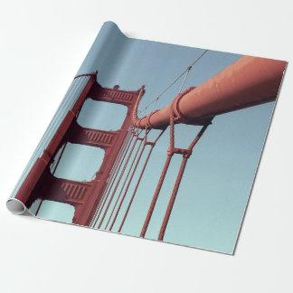 ゴールデンゲートブリッジのギフト用包装紙 ラッピングペーパー