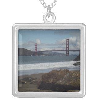 ゴールデンゲートブリッジのサンフランシスコのネックレス シルバープレートネックレス