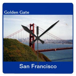 ゴールデンゲートブリッジのサンフランシスコの柱時計 スクエア壁時計