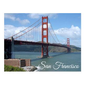 ゴールデンゲートブリッジのサンフランシスコカリフォルニアの郵便はがき ポストカード