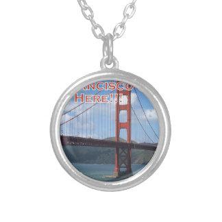 ゴールデンゲートブリッジサンフランシスコカリフォルニア米国 シルバープレートネックレス