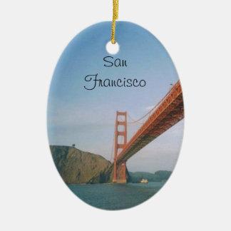 ゴールデンゲートブリッジサンフランシスコ セラミックオーナメント